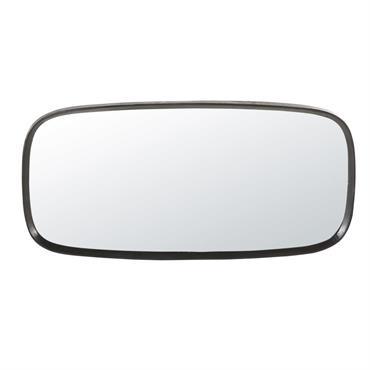 Miroir bords arrondis en métal noir 58x122