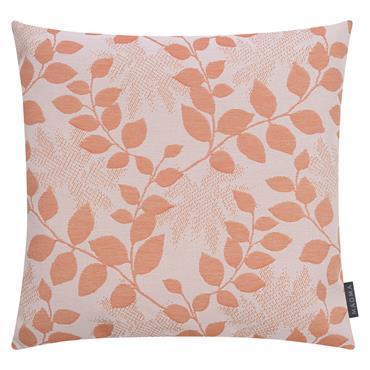 Housses de coussin outdoor motif floral orange Dralon- Lot de 2 -50x50