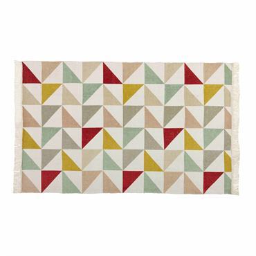 Tapis motif triangles en coton 120 x 180 cm LÉA