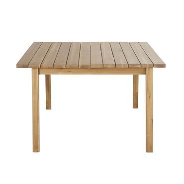 Table de jardin extensible carrée en acacia massif 6/8 personnes L120/160 Garda