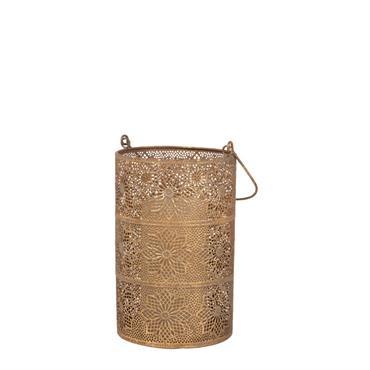 Lanterne en métal ciselé doré