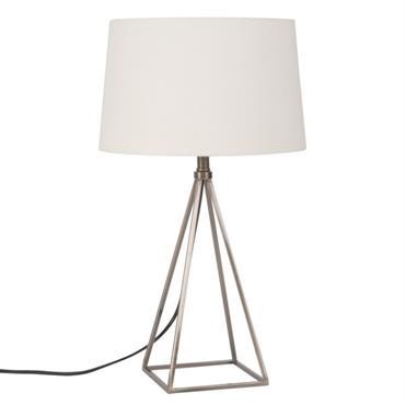 Lampe en métal et abat-jour blanc