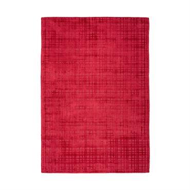 Tapis moderne fait main en Viscose Rouge cerise 200x290 cm