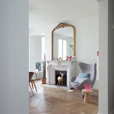 Réhabilitation complète d'un appartement Haussmannien situé dans le centre de Paris.  Domozoom