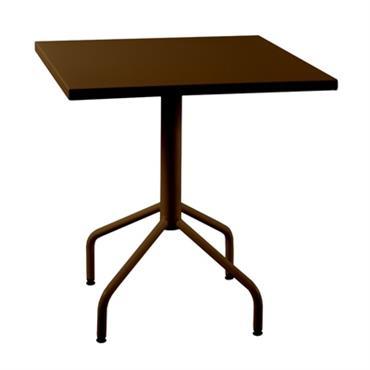 Table en métal carrée rabattable Riviera 700x700