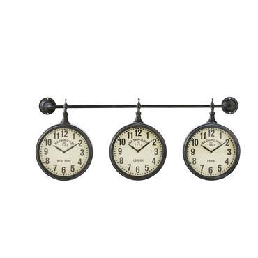 Horloges indus en métal effet vieilli
