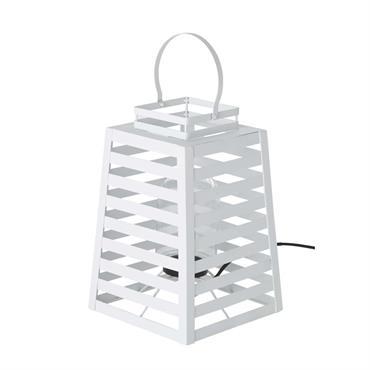 Lampe d'extérieur en métal blanc