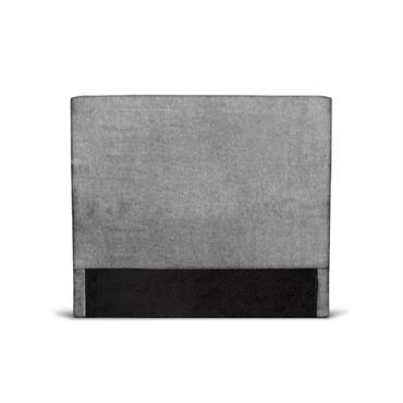 Tête de lit lisse en tissu gris - 140cm