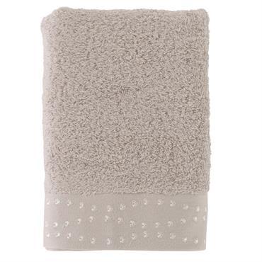 La serviette de toilette brodée Botany est composée à 60% de coton et à 40% de viscose de bambou (600 g/m²) ce qui la rend douce et moelleuse. Une éponge ...