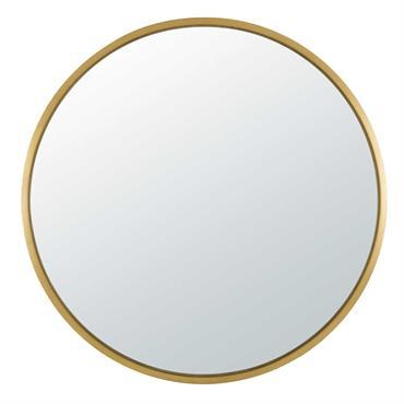 Miroir rond en métal doré D159