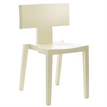 Chaise empilable Joa Sekoya T / Plastique effet bois - TOG Jaune