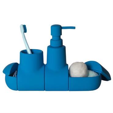 Set d´accessoires Submarine / Pour salle de bains - Seletti bleu en céramique