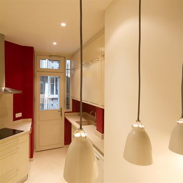 Réhabilitation d'un appartement, 114m², Paris. Conception, maitrise d'ouvrage.  Domozoom