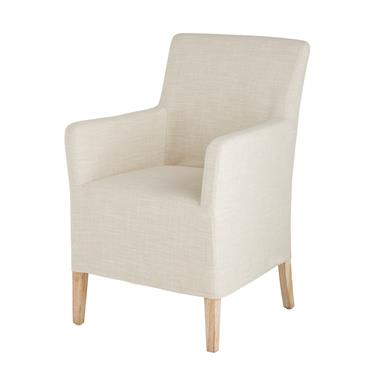 Visez juste avec le fauteuil beige BERENICE , revêtu d'un tissu beige et entièrement déhoussable. Il s'intégrera parfaitement près d'une bibliothèque ou en complément d'un canapé. Son assise moelleuse et ...