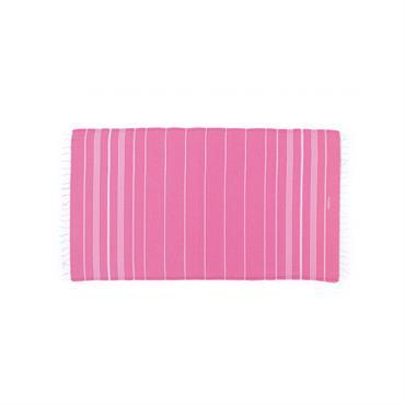 Fouta en coton peigné BIO Rose Bonbon 95 x 180 cm