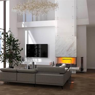 Maison spacieuse à côté de Kiev dans le style du minimalisme. Le style moderne convient au caractère de l'hôtesse.   Domozoom