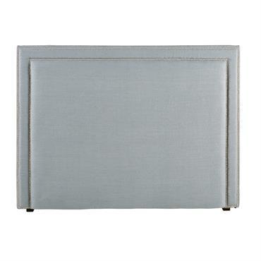 Tête de lit 160 en lin gris bleu Elise
