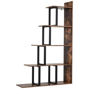 Étagère bibliothèque style industriel en escalier 5 étagères