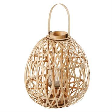 Lanterne en bambou tressé H64