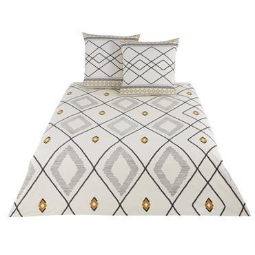 Parure de lit en coton écru