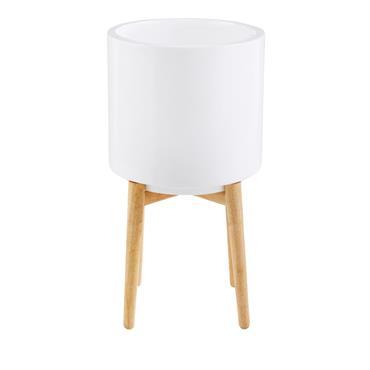 Cache-pot en céramique blanche H60