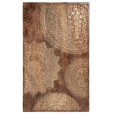 Tableau sculpté en bois doré 50 x 82 cm MANDALA