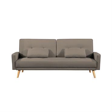 Donnez du style à votre salon avec ce canapé scandinave aux pieds en bois massifs évasés et ses lignes épurées, parfaitement symétriques. Ce canapé convertible au design scandinave s'adapte à ...