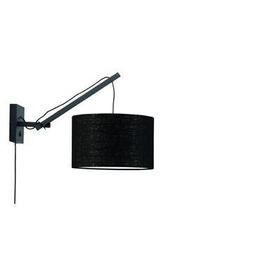 Applique bambou/lin noir L50cm