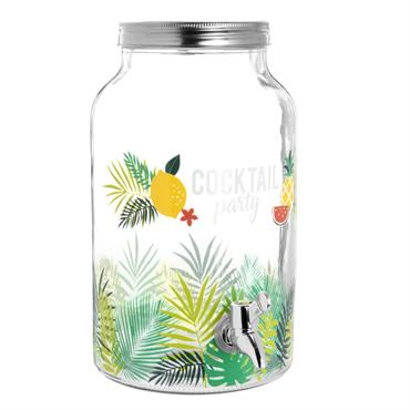 Fontaine à boissons en verre imprimé tropical 5