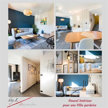 Présentation la réalisation d'un projet de décoration d'intérieur pour une villa des Angles
