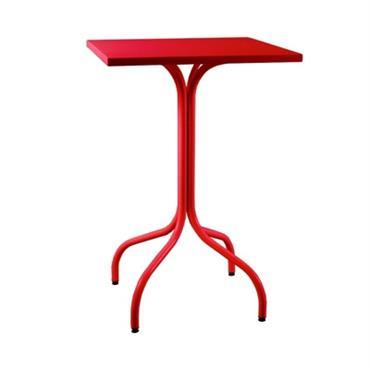 Table haute carrée métal Agora 600x600