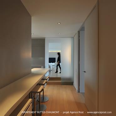 Notre agence s'est vu confier la transformation d'un exceptionnel appartement «penthouse» situé sur le toit d'un immeuble de huit étages ... Domozoom
