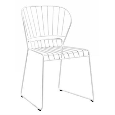 Chaise empilable Resö / Métal - Skargaarden Blanc en Métal