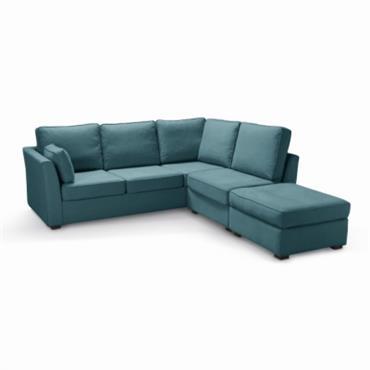 Revêtement : - Tissu Coton-Lin : 72% coton + 28% lin, 410g/m² - Finition passepoil. - Entièrement déhoussable (par fermeture à glissière) pour faciliter l´entretien. Garnissage : - assises : ...
