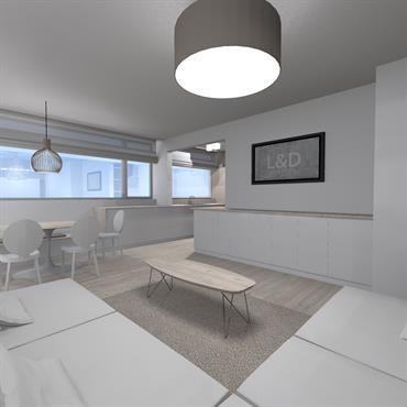 Rénovation d'un appartement / Roubaix / 80m²  Domozoom