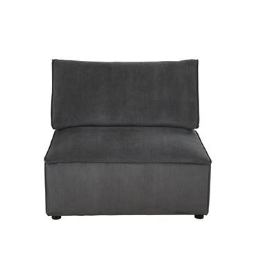 Chauffeuse de canapé gris anthracite Malo