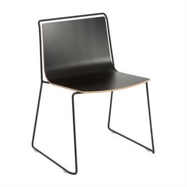 Chaise Alo / Coque stratifié - Ondarreta noir en métal