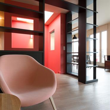 Aménagement d'un duplex, 126m², Suresnes Conseils achat VEFA, conception, maitrise d'ouvrage, mobilier  Domozoom