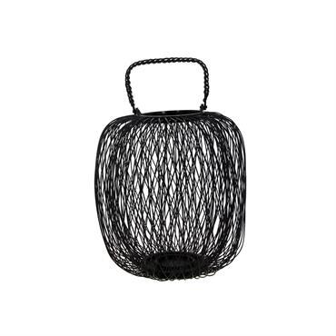 Lanterne ronde en bambou noir D34