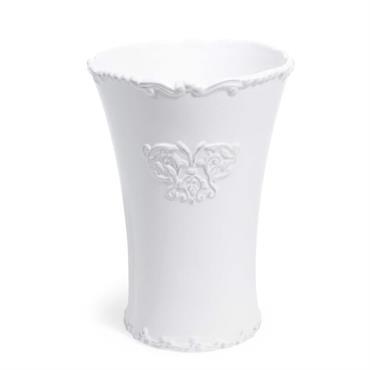 Vase en céramique blanche H 23 cm ARISTIDE