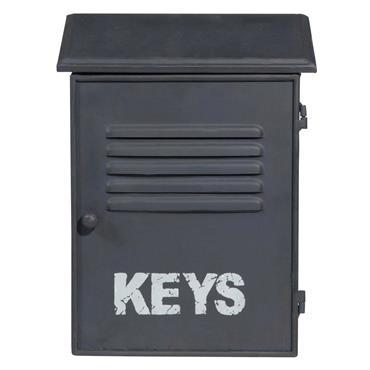Boîte à clés en métal bleu marine