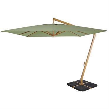 Avec l'arrivée de la belle saison, misez sans plus attendre sur le parasol déporté en aluminium et toile vert kaki CAMBERRA pour compléter votre salon de jardin. Avec sa structure ...