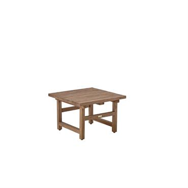 La table basse Alfred en teck recyclé plein (non ajouré) libère une véritable identité. Son charme réside dans l'irrégularité du bois massif qui apporte un côté rustique à son design ...