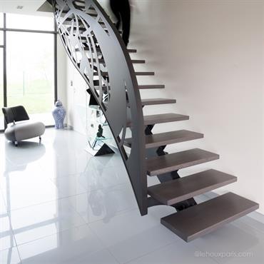 Escalier Contemporain Metal Bois Paris
