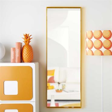 Miroir en plexi orange 162x56cm 70S POP