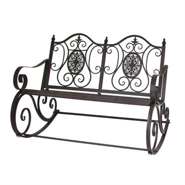Banc rocking chair de jardin en fer 90x120