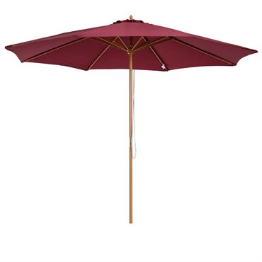Parasol rond grande taille rouge