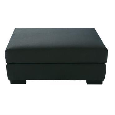 Pouf de canapé modulable gris anthracite Terence