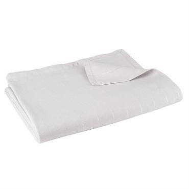 Nappe en coton gris motifs rayures irisées 150x350