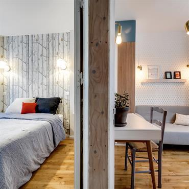 2 chambres séparées par une verrière